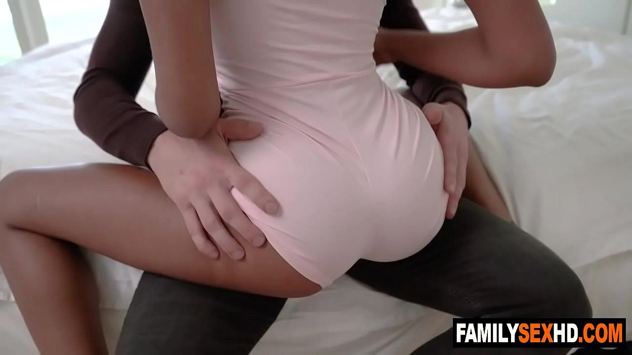 Ebony Gets Fucked Step Dad