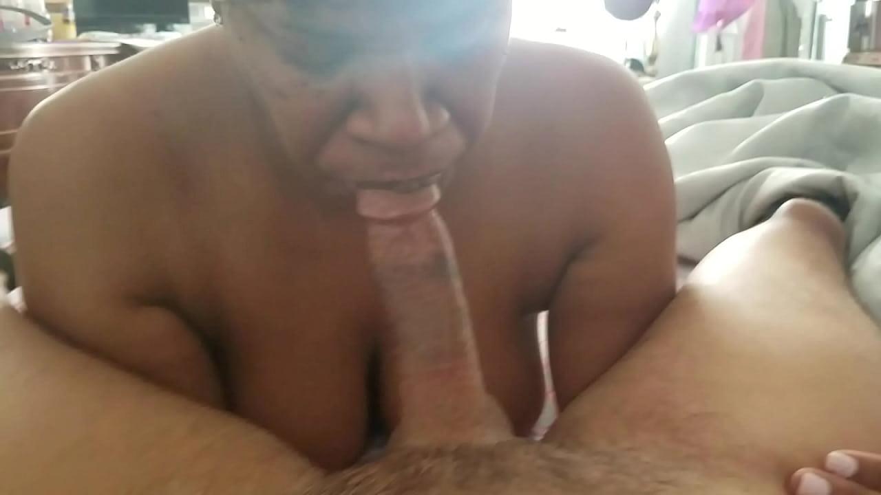 Ebony Thot Swallowing Cum