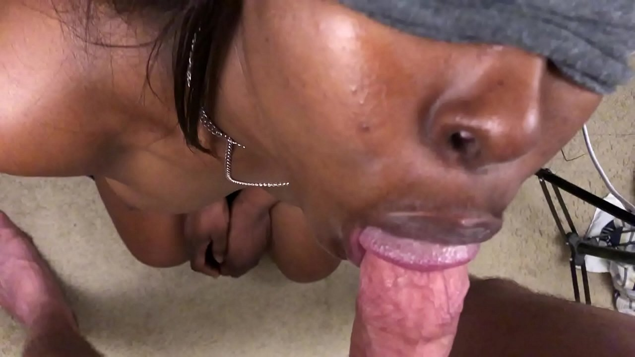 Ebony Choking White Dick