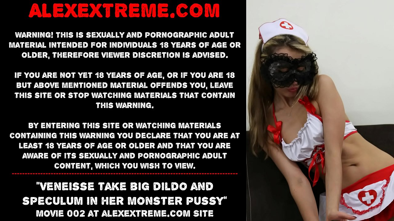 Veneisse (NEW 2020 release!!!) take big dildo and speculum in her monster pussy  thumbnail