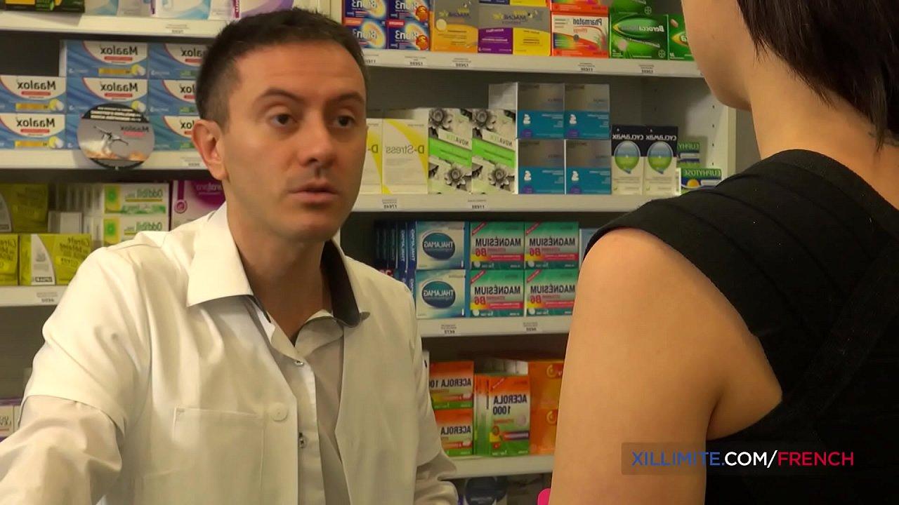 French brunette fucked in the pharmacy  thumbnail