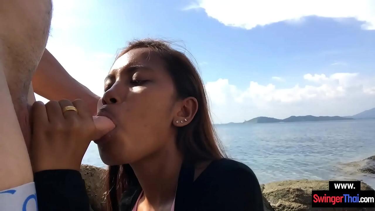 Asian Teen Public Blowjob