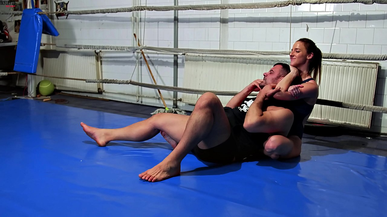 He Wrestles Amirah Adara To Submission And Humiliate Her - Forced Blowjob - Forced Sex