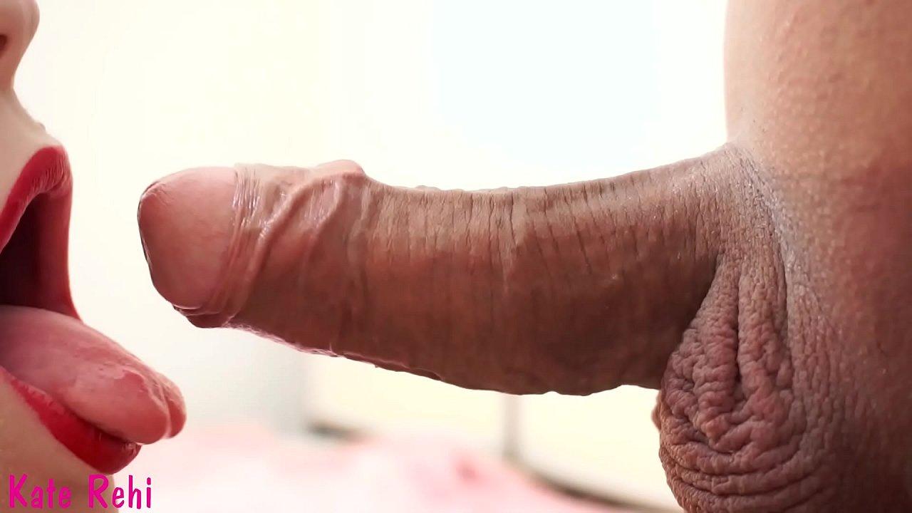 Close-up, throbbing orgasm, oral creampie