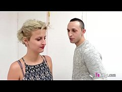 Dumb blonde babe meets a guy from a bad neighbo...