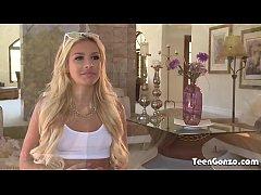 TEENGONZO Blonde teen Carmen Caliento fucked by...