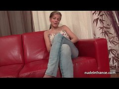 Amateur Busty french cougar haardly analized an...