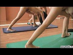 Hot Playboy babes doing nude yoga