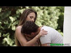 Passionate outdoor sex - Veronica Clark and Kri...