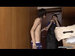 Cleaning lady comes and she gets to be creampied