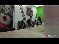 Joana fucks a nervous fan on hidden camera