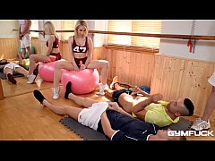 Gym fuck with busty blondie Chessie Kay ends wi...