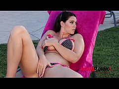 Delicious busty top model Alison Tyler indulges...