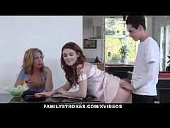FamilyStrokes - Horny Stepsiblings Caught Fucki...