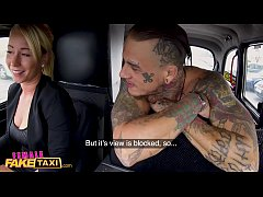Female Fake Taxi Tattooed guy makes sexy blonde...