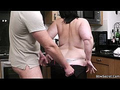 Chubby cheating on the kitchen