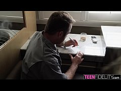 TEENFIDELITY Ashley Red Rides Handyman Chad's Cock