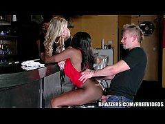 Brazzers - Ebony and ivory, anal threesome