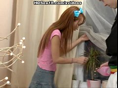Hot anal fuck with asian redhead