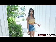 Ebony step daughter fucked by dad for smoking c...