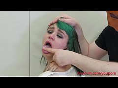 Teen emo girl punished and exploited by sicko psychiatrist