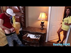 Milf stepmommy banged by her stepson