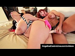 Cuban BBW Angelina Castro StrapOn Fucked By Mus...
