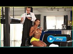BANGBROS - Young Ebony Pornstar Makes Her Butle...