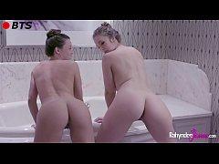 Rahyndee James and Lena Paul Lesbian Bath BTS