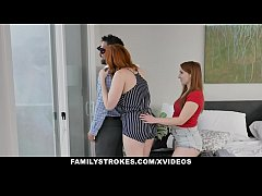 Redhead Milf (Lauren Phillips) And Step Daughte...