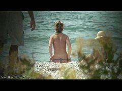 Public beach nudism video
