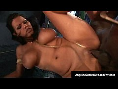 Cuban BBW Angelina Castro Slams BBC In Cage Match!