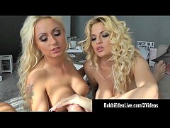 Dynamite Dutch Blondes Bobbi Eden & Milena Star Suck A Cock!