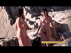 Nudist Females Group Big Tits Voyeur Beach