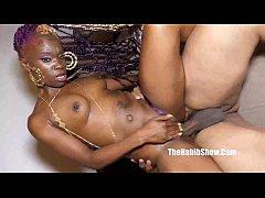 beautifully black sexy doll rides huge bbc redz...