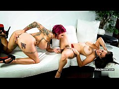 CrushGirls - Peta Jensen playing with toy with ...