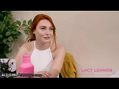 AllGirlMassage Thirsty Redhead Lacy Lennon Give...