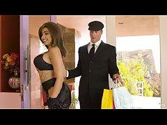 Busty teen Aaliyah Hadid fucks her driver