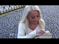 Blonde Hungarian student fucks for cash