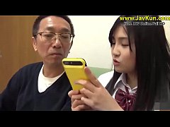 Jav cute teen high school sex with old man