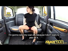 Fake Taxi Lady tries deepthroating big cock wit...