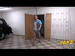 Fake Hostel - Curvey blonde backpacker gets an ...