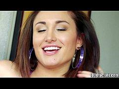 1000facials DIrty Latina Teen Turned On By Facials