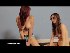 Ruby RedHead Lauren Phillips Does Sybian Dick w...