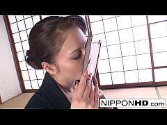 thumb horny japanese  cutie plays with herself h her h herself h herself