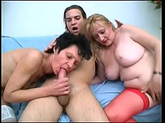 Two Grannies seduced Young Man