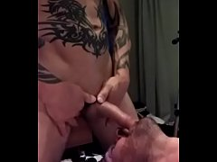 Hot dude tried to choke me out on his cock. He was hot and big -- but my throat is bottomless.