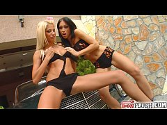 Fist Flush Two lovely ladies nasty fisting surp...