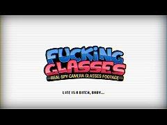 Fucking Glasses - Hot teeny Violet Rain fucking glasses romp