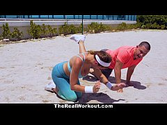 TheRealWorkout - Big Titty Babe Gets Fucked By ...